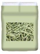Green String Beans Display Duvet Cover