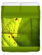 Green Sunlight Duvet Cover