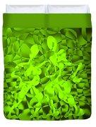 Green Tango Rhythms Duvet Cover