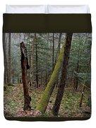 Green Timber Duvet Cover