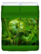 Green Tomatos Duvet Cover