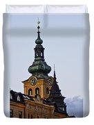 Green Tower Duvet Cover