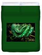 Green Tree Python Duvet Cover
