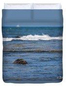 Green Turtle Surf Duvet Cover