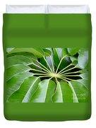 Green Umbrella Duvet Cover