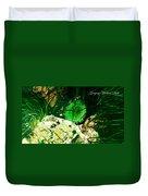 Green Urchin Duvet Cover