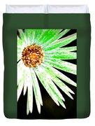 Green Vexel Flower Duvet Cover