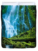 Green Waterfall Duvet Cover
