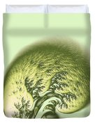 Green Wave Duvet Cover