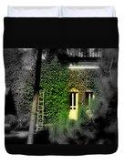 Green Window Duvet Cover