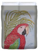 Green Winged Macaw Duvet Cover