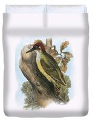 Green Woodpecker Duvet Cover