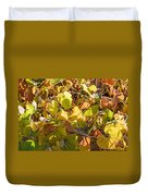 Green Yellow And Dry Leaves Duvet Cover