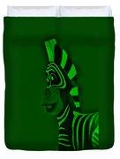 Green Zebra Duvet Cover