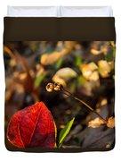 Greenbriar Leaf And Wintergreen Seedpod Duvet Cover