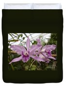 Greenhouse Ruffly Orchids Duvet Cover