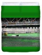 Greening The Chicago River Duvet Cover