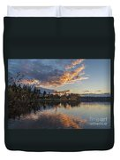 Greenlake Autumn Sunset Duvet Cover