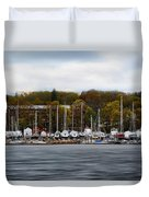 Greenwich Harbor Duvet Cover by Lourry Legarde