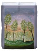 Greetings From The Trees Duvet Cover