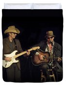 Greg Brown And Bo Ramsey In Concert Duvet Cover