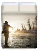Greg Houska Fly Fishing On The Provo Duvet Cover