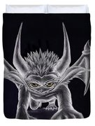 Grevil Silvered Duvet Cover by Shawn Dall