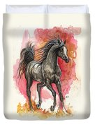 Grey Arabian Horse 2014 01 12 Duvet Cover
