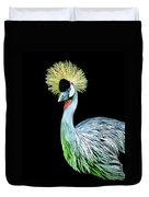 Grey Crowned Crane Duvet Cover