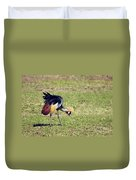Grey Crowned Crane. The National Bird Of Uganda Duvet Cover
