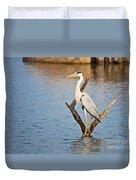 Grey Heron  Ardea Cinerea Duvet Cover
