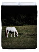 Grey In The Pasture Duvet Cover