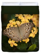 Grey Pansy Butterfly Arizona Duvet Cover