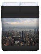 Grey Sky Over Manhattan Duvet Cover