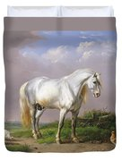 Grey Stallion Duvet Cover