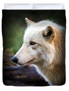 Grey Wolf Painting Duvet Cover