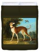Greyhound In A Landscape Duvet Cover