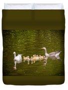 Greylag Goose Family Duvet Cover