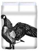Greyscale Canada Goose Pop Art - 7585 - Wb Duvet Cover