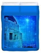 Griffith Park Observatory At Night Duvet Cover