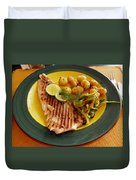 Grilled Fish Duvet Cover