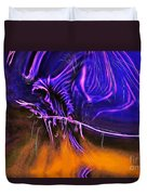 Grim Reaper In Abstract Duvet Cover