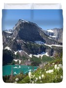 Grinnell Lake With Beargrass Duvet Cover