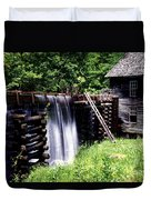 Grist Mill And Water Trough Duvet Cover