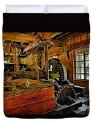 Grist Mill Gears Duvet Cover