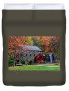 Grist Mill In Autumn Duvet Cover