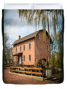 Grist Mill In Deep River County Park Duvet Cover