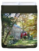 Grist Mill In Fall Duvet Cover