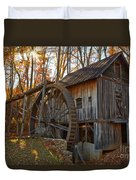 Grist Mill With A Golden Glow Duvet Cover