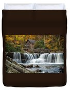 Grist Mill With Vibrant Fall Colors Duvet Cover